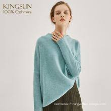 Chaud et doux pull style libre, 100% pur pull en cachemire, pull à manches longues pull en tricot filles