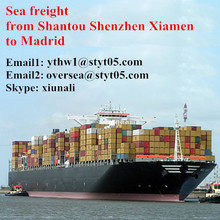 Sea freight for container from Shantou to Madrid
