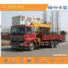 FOTON 6*4 truck with lifting crane 12tons