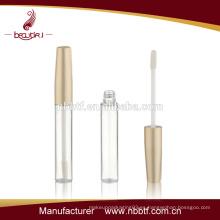 2015 mejor precio de plástico de oro labio tubo de brillo al por mayor