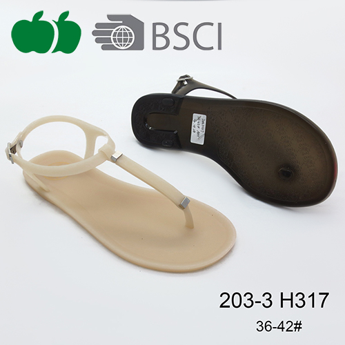 2016 Hot selling good quality summer fashion pvc flat sandals