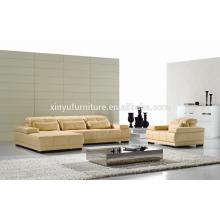 Canapé de salon en cuir synthétique en forme de L KW343