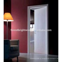 Projeto principal de madeira branco das portas do resplendor principal da venda quente para o toalete
