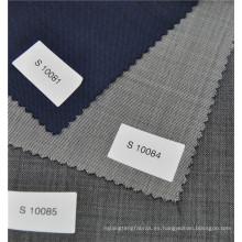 sarga tejida 70% lana y 30% poliéster mezclado tela clásica para traje formal