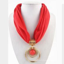 2017 femmes infini dernière écharpe conceptions polyester pendentif circulaire écharpe