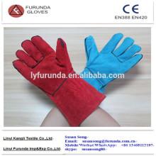 Kuh Split Leder Schweißen Handschuhe mit Baumwoll-Liner, 14 Zoll