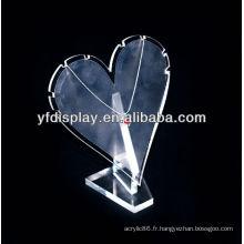 Affichage acrylique de haute qualité de bijoux pour le support de collier