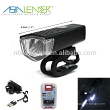 2015 Novo Design SMD USB recarregável Luz Bike Light Front