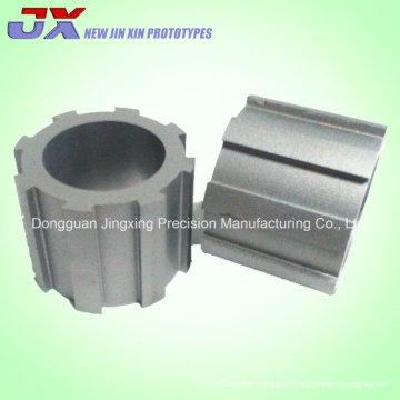 Metal CNC máquina y muestras de corte de alambre para pieza de engranaje