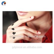 Etiqueta engomada del tatuaje del pequeño estilo del dedo, etiqueta engomada linda y preciosa de la mano