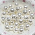 Czech Round Glass Imitation 6MM Cream Pearl Loose Superior Quality Pearl Plastic Beads