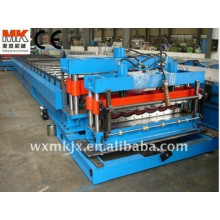 Rollo de la hoja del tejado de acero / azulejo esmaltado automáticamente que forma el fabricante de la maquinaria