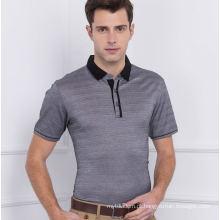 100% penteado algodão moda Europa Stripepolo camisa do mercado