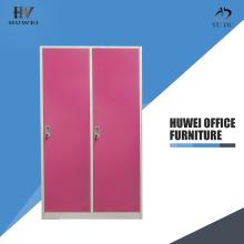 Metal two door wardrobe steel almirahs cabinet