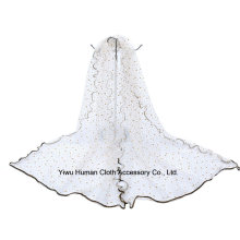 Lady Shine Stars 100% Polyester Beautiful Voile Scarf