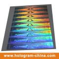 Silbriger Sicherheits-Anti-Fälschungs-3D Laser-Hologramm-Aufkleber