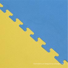 Esteiras de 40mm Jigsaw em azul / amarelo Tatami Finish