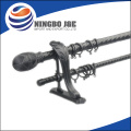 28MM/19MM Black Double Curtain Poles Made In Dubai