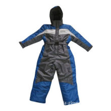 Junior polyester ski jacket with adjustable waist