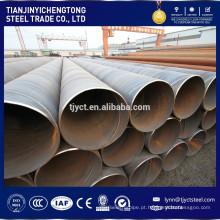 Os preços baixos da tubulação de aço da espiral ASTM do carbono de ASTM soldaram / preços do tubo