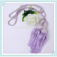 10mm 3 Stränge recyceln lila verdrehtes Baumwollseil