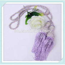 10mm 3 Strands Recycle Purple Twisted Cotton Rope