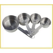 Taza de medición de acero inoxidable de 4 tamaños