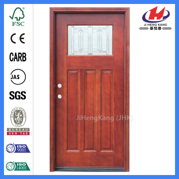 Jhk-004P-Cs White Oak Wood 4 Panel Solid Timber Door