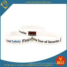 Drucken Sie Ihr eigenes Wort Silikon Wristaband & Armband
