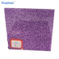 Acrylic sheet with glitter