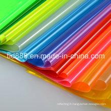 Feuille de plastique de PVC imprimable Cateye réflecteur