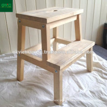 Wooden Step Stools Made of Acacia