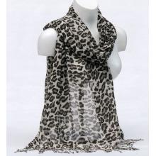 Frauen Bambus Printing Leopardspring Herbst Sommer Woven Strand Abdeckung Schal Snood Loop Schal (SW131)