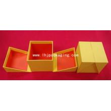 Hochwertige Tür-geöffnete Präge-Geschenk-Verpackungs-Papier-Kasten