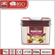 square plastic airtight canister