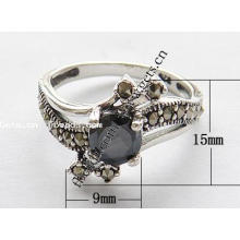 2015 Gets.com thailand sterling silver black leather finger rings