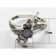 2015 Gets.com thailand prata esterlina preta couro dedo anéis