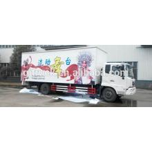 Camión de etapa 4x2 Dongfeng para plataforma de trabajo van box 7600MM