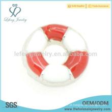 Liga de zinco desporto flutuante charme atacado, pequeno natação círculo locket encantos