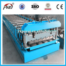 China PRO Metal Sheet Roofing Glazed Steel Tile Roll formando máquina