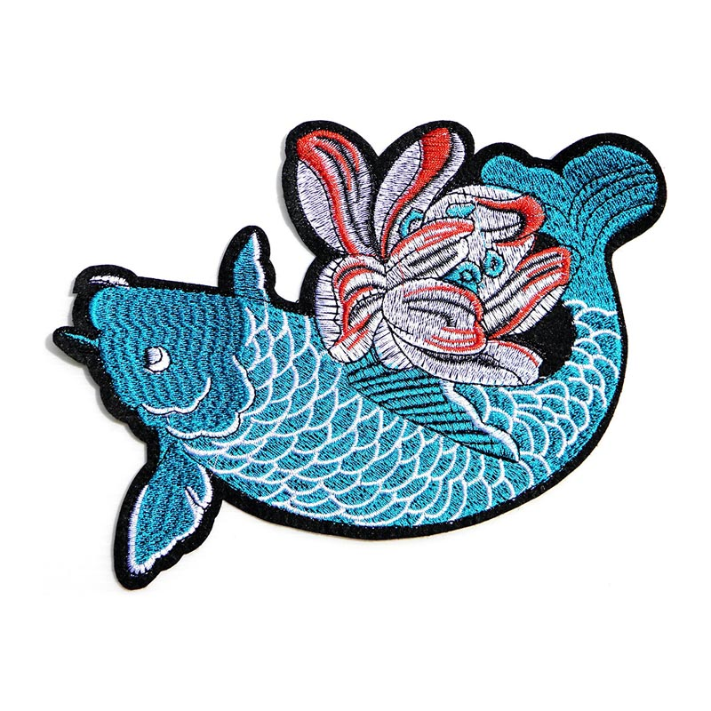 Big Japanese Koi Fancy Carp Fish Patch