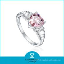 Herzform Rosa Kristall Königreich Herz Ring