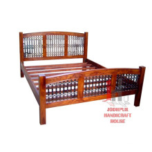 Iron Wood Double Bed