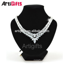 Good quality handmade Cubic Zirconia Diamond Fine Jewelry Necklace