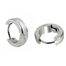 Boucles d'oreille en acier inoxydable en acier inoxydable en Huggie Boucles d'oreille en acier chirurgical en acier chirurgical HE-024