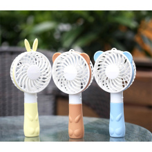 mini handle USB chargeable cooler fan blue color