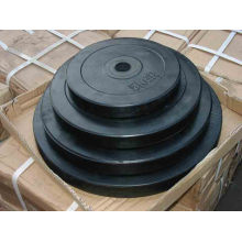gym accessiries weight lifting rubber plate