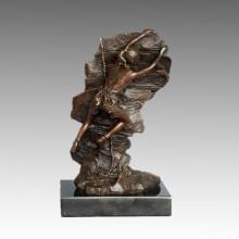 Sports Statue Rock Climbing Player Bronze Sculpture, Nick TPE-789