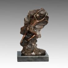 Спортивная статуя Скалолазание Игрок Бронзовая скульптура, Ник ТПЭ-789
