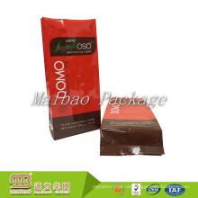 Großhandelskundenspezifischer glatter Logo-Druckaluminiumfolie-Seitenkeil-Plastiktasche-Kaffee-Tasche mit Ventil